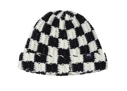 Stussy Crochet Checker Beanie Black (FW21)の写真
