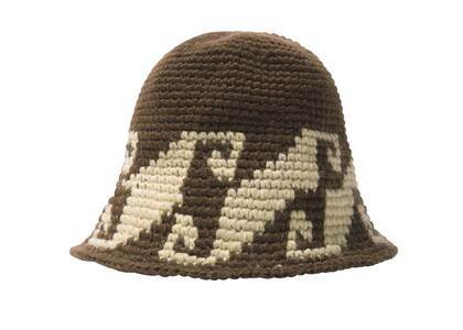 Stussy Waves Knit Bucket Hat Brown (FW21)の写真