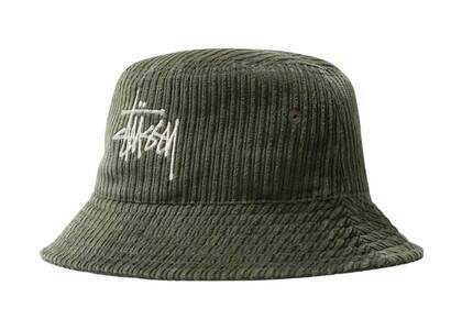 Stussy Corduroy Big Basic Bucket Hat Olive (FW21)の写真