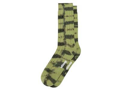 Stussy Dyed Stripe Ribbed Crew Socks Sage (FW21)の写真