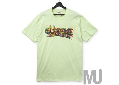 Supreme Paint Logo Tee Pale Mintの写真