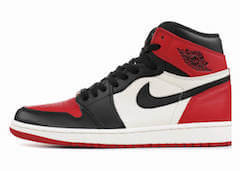 JORDAN 1 RETRO HIGH OG BRED TOE (2018)の写真