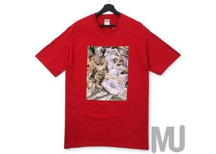 Supreme Bling Tee Redの写真