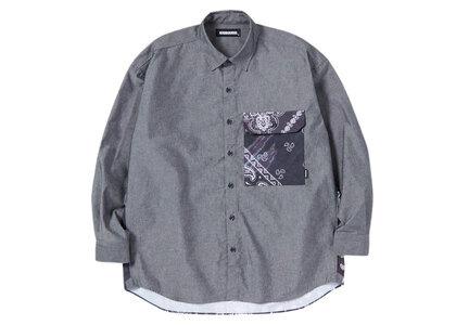 Neighborhood Bandana Chopped-2 CE-Shirt LS Blackの写真