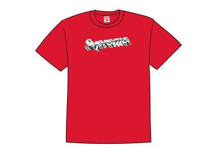 Supreme Chrome Logo Tee Redの写真