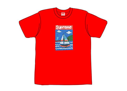 Supreme Sailboat Tee Redの写真