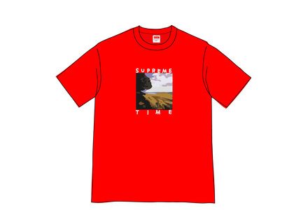 Supreme Supreme Time Tee Redの写真