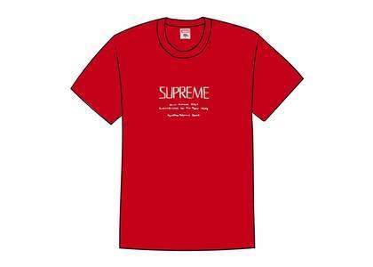 Supreme Anno Domini Tee Redの写真