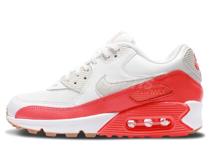 Nike Air Max 90 Essential Summit White Light Brown-Bright Crimson Womensの写真