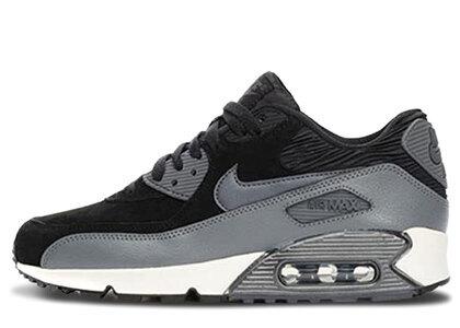 Nike Air Max 90 Leather Black Dark Grey Womensの写真