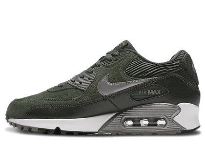 Nike Air Max 90 Lthr Carbon Green Metallic Pewter-Sq-Sl Womensの写真