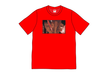Supreme Split Tee Redの写真