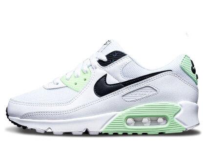 Nike Air Max 90 White Vapor Green Black Womensの写真