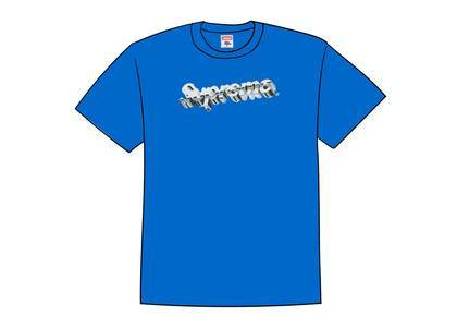 Supreme Chrome Logo Tee Royalの写真