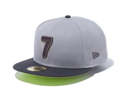New Era 59FIFTY COMPOUND 7 NBA Logo Gray Cyber Green Under Visorの写真