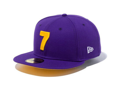 New Era 59FIFTY COMPOUND 7 NBA Los Angeles Lakers Yellow Under Visorの写真