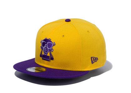 New Era 9FIFTY COMPOUND Gas Mask NBA Los Angeles Lakers Yellow Purple Visorの写真