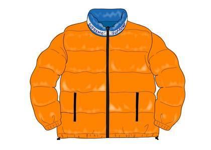 Supreme Shiny Reversible Puffy Jacket Orangeの写真