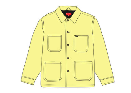 Supreme Velvet Chore Coat Bright Greenの写真
