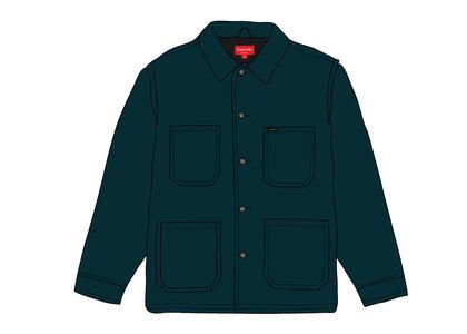 Supreme Velvet Chore Coat Navyの写真