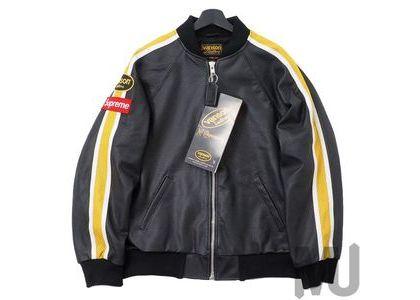 Supreme Vanson Leathers Perforated Bomber Jacket Blackの写真