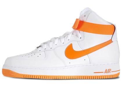 Nike Air Force 1 High White Vivid Orangeの写真