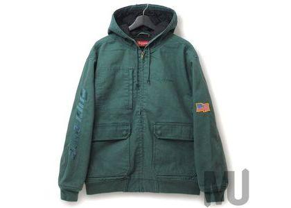 Supreme Canvas Hooded Work Jacket Work Greenの写真