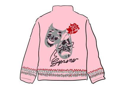 Supreme Drama Mask Fleece Jacket Pinkの写真