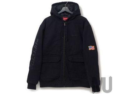 Supreme Canvas Hooded Work Jacket Blackの写真