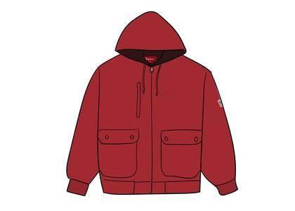 Supreme Canvas Hooded Work Jacket Redの写真