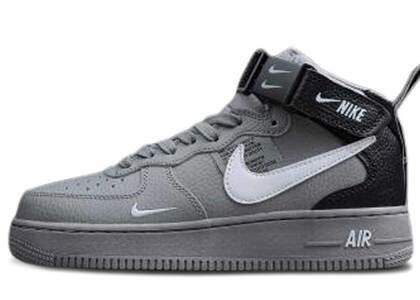 Nike Air Force 1 Mid Utility Wolf Grey Blackの写真