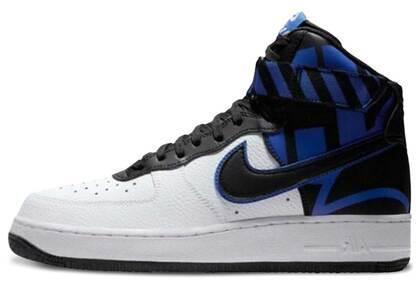 Nike Air Force 1 High Force Logo White Black Royalの写真