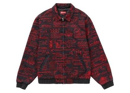 Supreme Checks Embroidered Denim Jacket Blackの写真