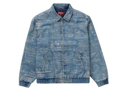 Supreme Checks Embroidered Denim Jacket Blueの写真