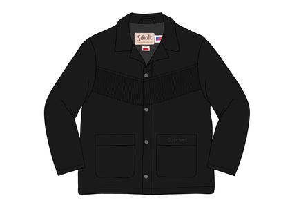 Supreme Schott Fringe Suede Coat Blackの写真