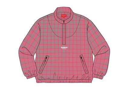 Supreme Track Half Zip Pullover (SS20) Red Glen Plaidの写真