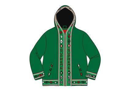 Supreme Woven Hooded Jacket Greenの写真