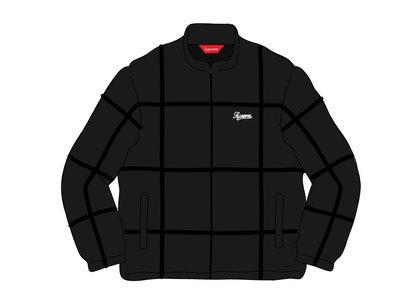 Supreme Grid Taping Velour Jacket Blackの写真