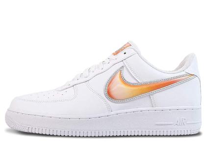 Nike Air Force 1 Low Oversized Swoosh White Orange Peelの写真