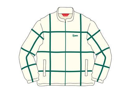 Supreme Grid Taping Velour Jacket Off Whiteの写真