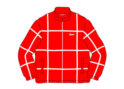Supreme Grid Taping Velour Jacket Redの写真