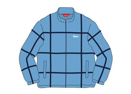 Supreme Grid Taping Velour Jacket Blueの写真