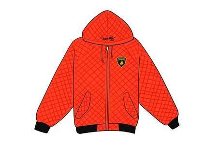 Supreme Automobili Lamborghini Hooded Work Jacket Orangeの写真