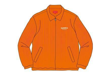 Supreme Wide Wale Corduroy Harrington Jacket Orangeの写真