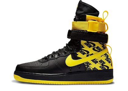 Nike SF Air Force 1 High Black Dynamic Yellowの写真