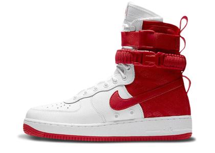 Nike SF Air Force 1 High White University Redの写真