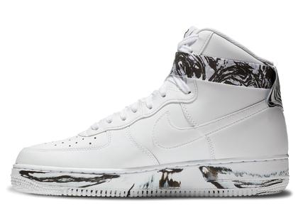 Nike Air Force 1 High Dip Dye White Blackの写真