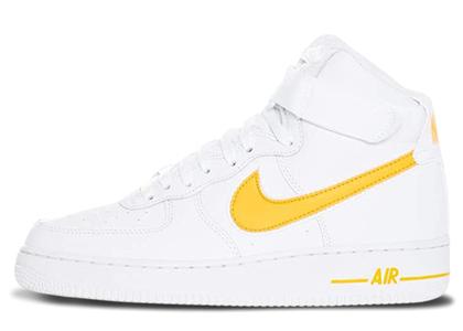 Nike Air Force 1 High White University Goldの写真