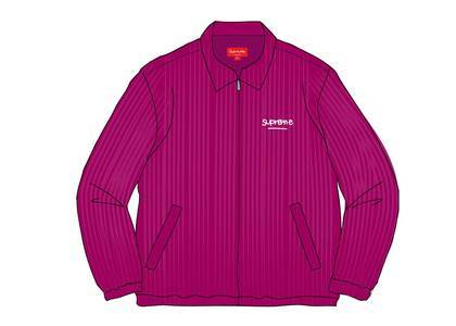 Supreme Wide Wale Corduroy Harrington Jacket Purpleの写真