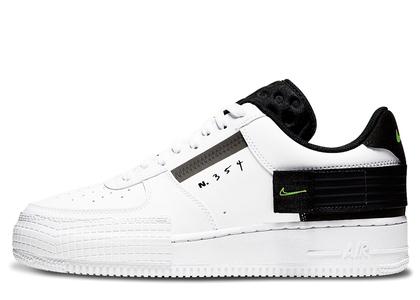 Nike Air Force 1 Type White Black Voltの写真
